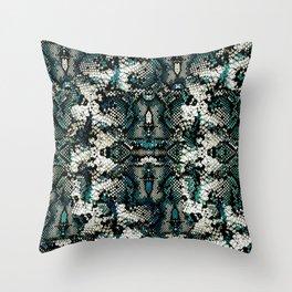Teal Animal Print Pattern Throw Pillow