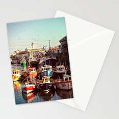 Boats resting in the Harbour Stationery Cards