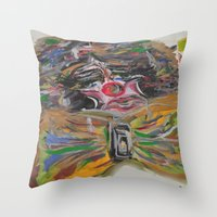 clown Throw Pillows featuring CLOWN  by Loosso