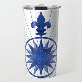 Nautical French Blue Compass Rose Travel Mug