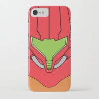samus iPhone & iPod Cases featuring Minimalist Samus by beware1984
