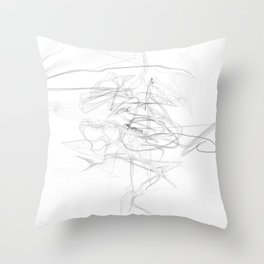 """""""Whatever, Oh Well"""" Black and White Abstract Design Throw Pillow"""
