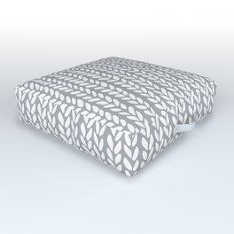 Knit Wave Grey Outdoor Floor Cushion