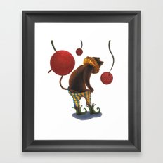 DEPRESSED CAT Framed Art Print