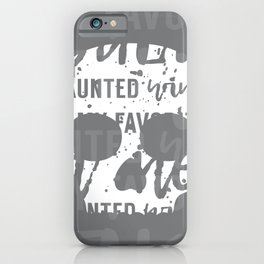 Skull with Wine Typography Gray White iPhone Case