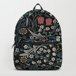 William Morris Blackthorn Art Nouveau Floral Pattern Backpack