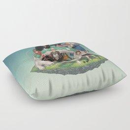 Ghibli: Bliss in Light Floor Pillow