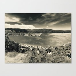 The Wind and the Waves in Black and White Canvas Print
