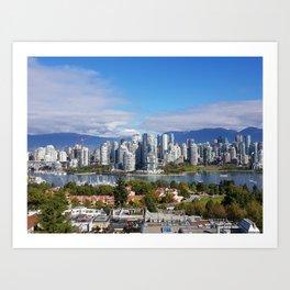 vancouver canada Art Print