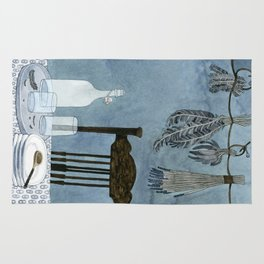 Still life with dried herbs Rug
