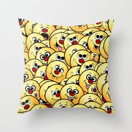 Funny Smiley Collections Grumpeys Throw Pillow