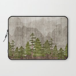 Mountain Range Woodland Forest Laptop Sleeve