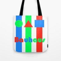 bauhaus Tote Bags featuring Bauhaus by Retale