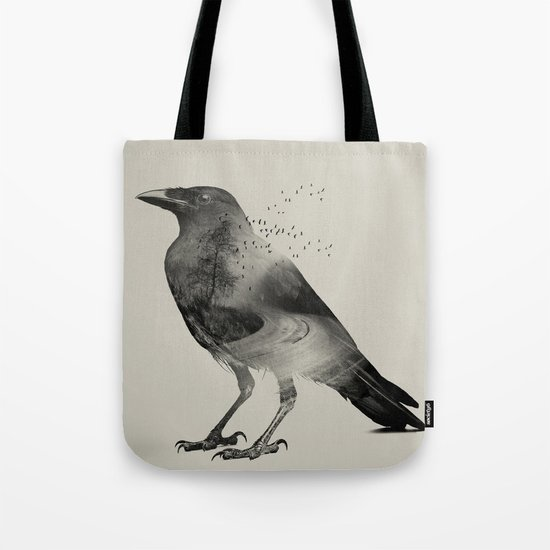 Raven Sky Tote Bag