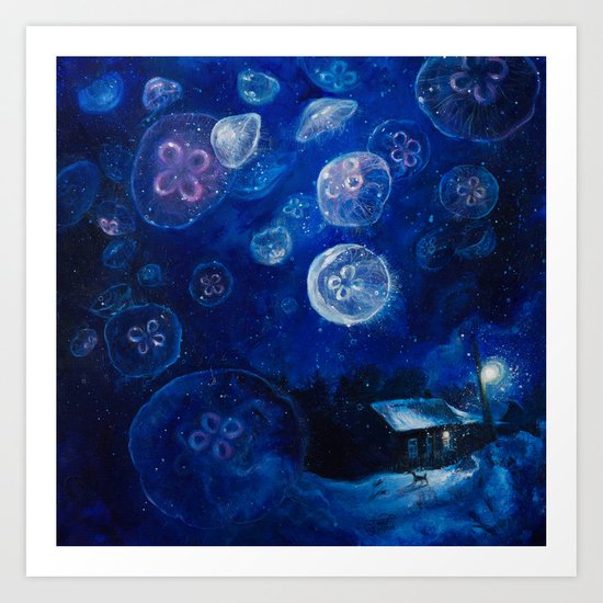 It's Jellyfishing Outside Tonight by tanyashatseva