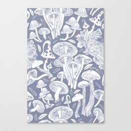Delicious Autumn botanical poison IV // blue grey background Canvas Print