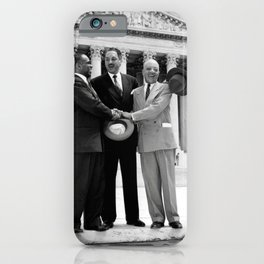 Thurgood Marshal on the steps of the Supreme Court  iPhone Case