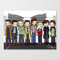 superwholock Canvas Prints featuring SuperWhoLock by ShockingBlankets