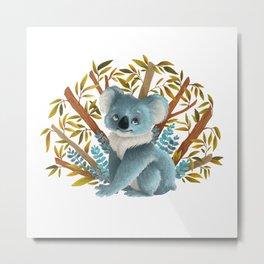 Palyful Koala Metal Print