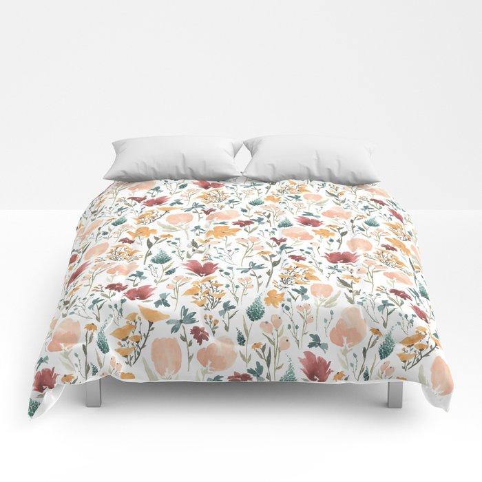 Deep Florals Comforters