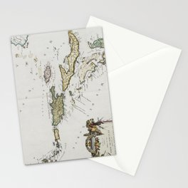 Vintage Map of The Caribbean (1779) Stationery Cards