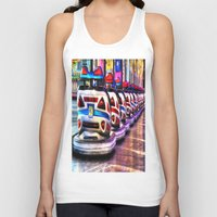 cars Tank Tops featuring Bumper cars by Simon Ede Photography