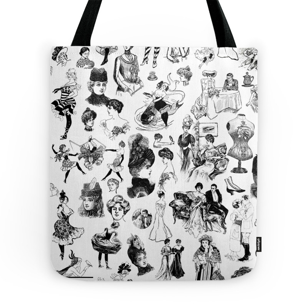 Good Girl Bad Girl Tote Purse by thepairabirds (TBG7562279) photo
