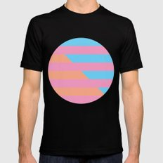 Neon Stripes /// www.pencilmeinstationery.com Mens Fitted Tee Black MEDIUM