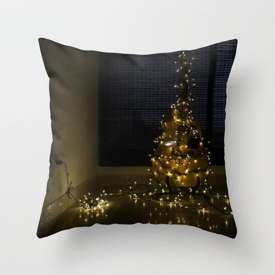 Hear the lights Throw Pillow