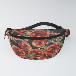 Poppy Pattern On Chalkboard Fanny Pack