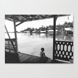 Quiet Moment on Isla Bastimento, Panama Canvas Print