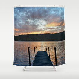 Greet the Adirondack Autumn Sun Shower Curtain