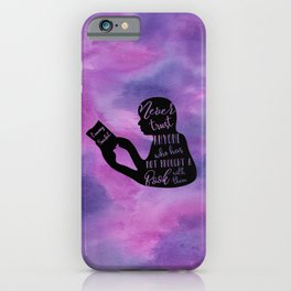 Never Trust Anyone (Lemony Snicket Quote) iPhone Case