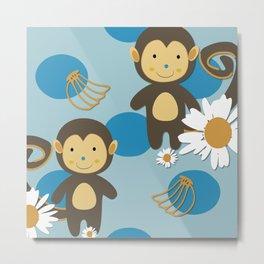 blue monkey Metal Print