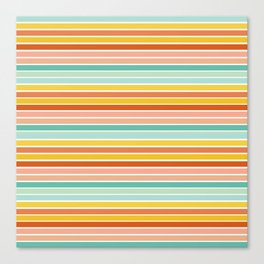 Over Striped Canvas Print