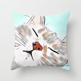 Sweet Dreams Kitty Throw Pillow