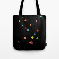 planets Tote Bags featuring Planets by camilla falsini