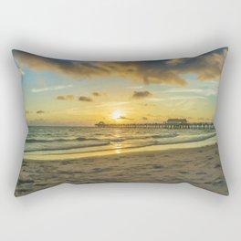 Naples Pier Sunset Rectangular Pillow