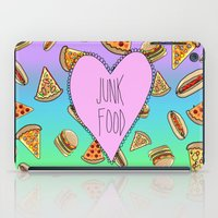 junk food iPad Cases featuring JUNK FOOD by SteffiMetal