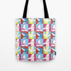 Left Shark Pop Art Tote Bag