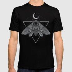 Occult Moth Black Mens Fitted Tee MEDIUM