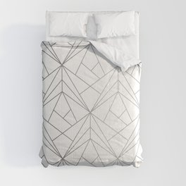 Geometric Silver Pattern Comforters