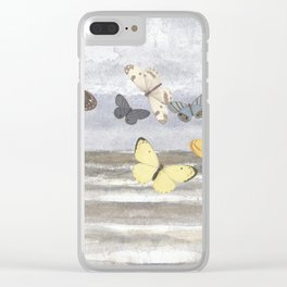 Butterfly escape Clear iPhone Case
