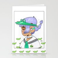crocodile Stationery Cards featuring Crocodile by Natali Koromoto