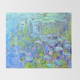 Water Lilies monet : Nympheas Throw Blanket