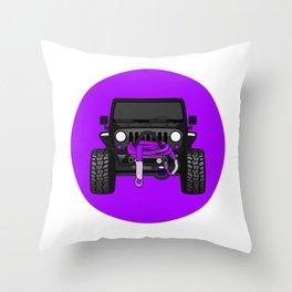 'Kittykatjk' Purple Throw Pillow