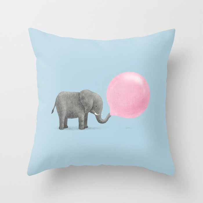 Jumbo Bubble Gum  Throw Pillow