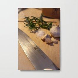 Roasting Herbs 3 Metal Print
