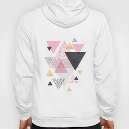 Multi Triangle - Rose Gold and Marble Hoody