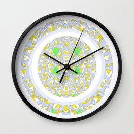 YELLOW LIP HEART Wall Clock